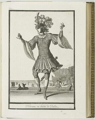 Homme en habit de ballet