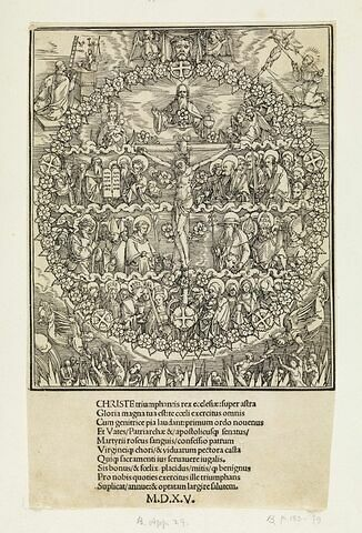 Sainte Trinité avec apôtres et saints