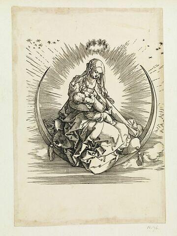 La Vierge à l'Enfant sur un croissant de lune