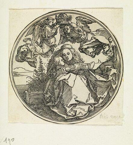 Vierge à l'Enfant au-dessus d'un paysage