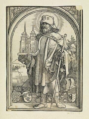 Saint Sebald portant un modèle d'église