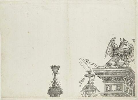 L'arc de triomphe de Maximilien : couronnement de la partie gauche de la composition