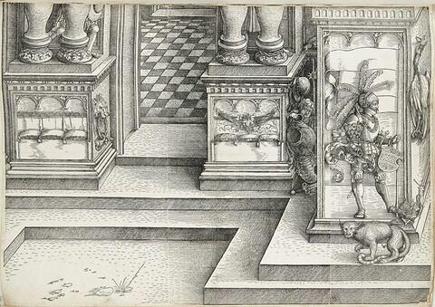 L'arc de triomphe de Maximilien : partie inférieure de la porte de l'Eloge