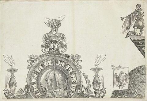 L'arc de triomphe de Maximilien : partie supérieure de la porte de la Renommée