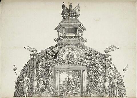L'arc de triomphe de Maximilien : coupole de la porte centrale de l'Honneur et du Pouvoir