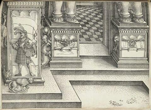 L'arc de triomphe de Maximilien : piédestaux de la porte de la Noblesse