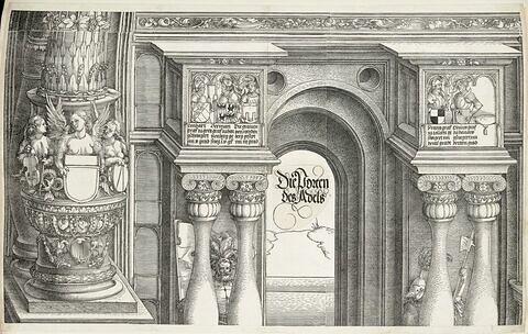 L'arc de triomphe de Maximilien : Partie supérieure de la porte de la Noblesse