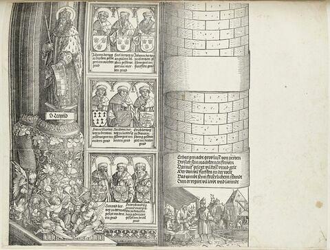 Arc de triomphe de Maximilien Ier : suite de la tour de droite