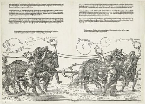 Le char triomphal de Maximilen Ier : Velocitas et Firmitudo