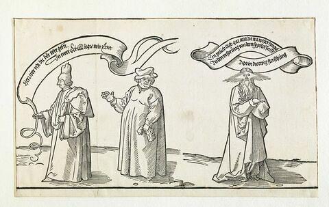 Tapisserie de Michelfeldt : l'Enseignant, l'Ecclésiastique et le Père Eternel