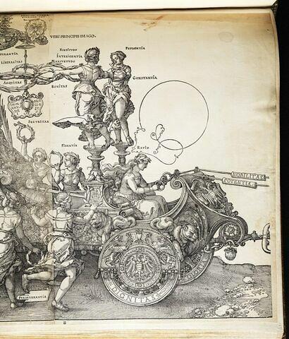 Le char triomphal de Maximilen Ier : Fidentia et Ratio