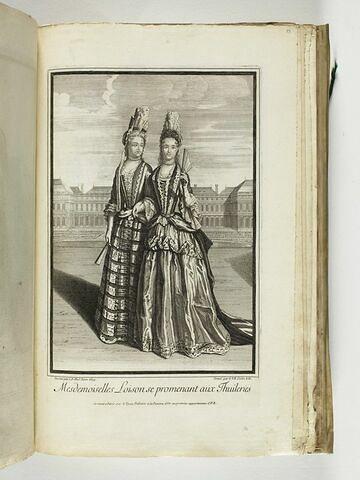 Mesdemoiselles Loison se promenant aux Tuileries