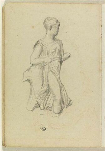Figure vêtue à l'antique