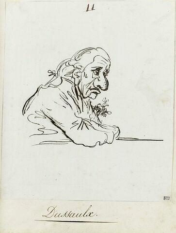Portrait de l'écrivain et homme politique Jean Dussaulx