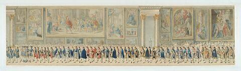 Cortège nuptial de Napoléon Ier et de Marie-Louise d'Autriche à travers la Grande Galerie du Louvre, le 2 avril 1810