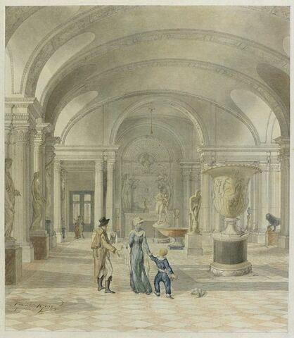 La salle des Caryatides au musée du Louvre