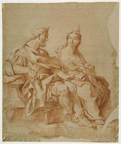 Aétes et Médée, étude pour le Combat des soldats nés des dents du serpent
