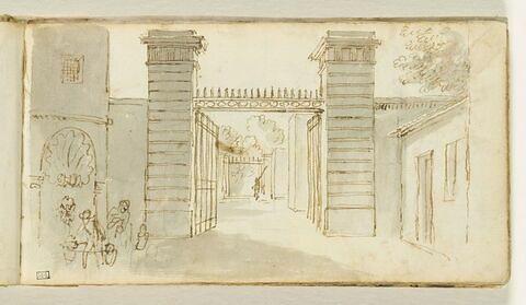 Grille d'entrée d'un palais