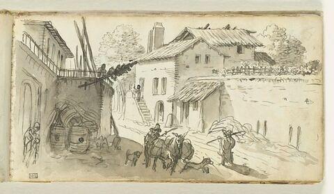Maisons et villageois