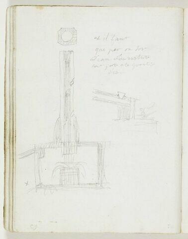 Section verticale d'une pompe hydraulique
