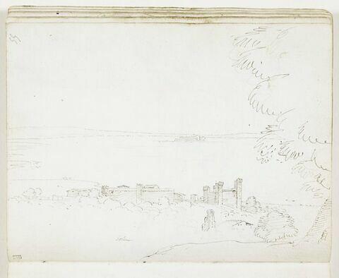 Vue de la ville et du lac de Bolsena
