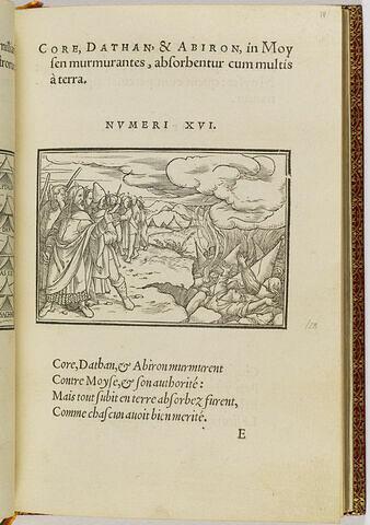 Koré, Dathan et Abiram, qui se soulevèrent contre Moïse, sont engloutis par la terre