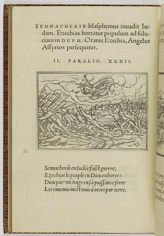 Un ange extermine le camp du roi d'Assyrie