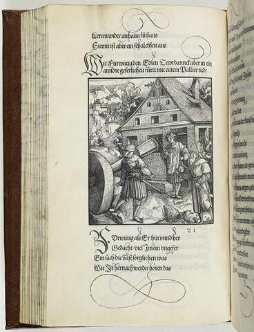 21. Ein andere geferlichait dem Tewrdanck Im Breuszgaw mit einem Calcidan palier stein begegnet (...).