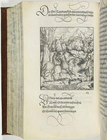 63. Ein unfall dem Tewrn Ritter Tewrdannckh zugestandn im Land zu Lützelnburg.