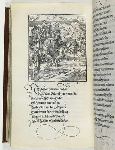82. Ist ein anzaigung einer geschiht durch den Tewrn Held Tewrdanck in einem Schlagen ergangen wie weitter und klerlicher im Blanck künig angezaigt wirdt.