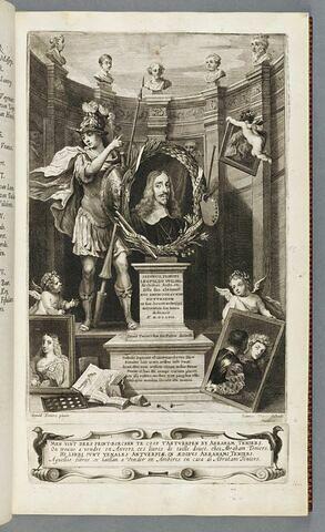 Frontispice illustré : portrait allégorique de Léopold-Guillaume de Habsbourg