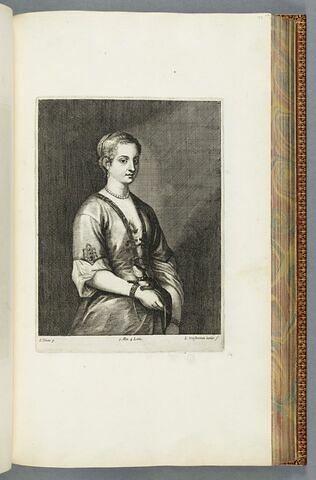 Portrait de femme au lézard