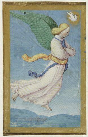 L'Ange de l'Annonciation. Feuillet d'un Livre d'heures