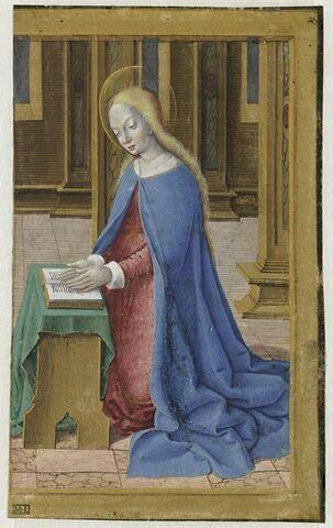 La Vierge de l'Annonciation. Feuillet d'un Livre d'heures