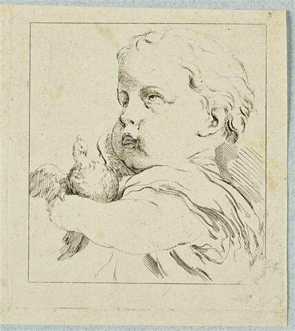 Bébé tenant une colombe