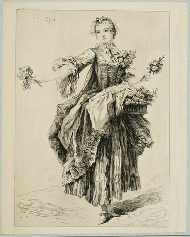 La bouquetière galante