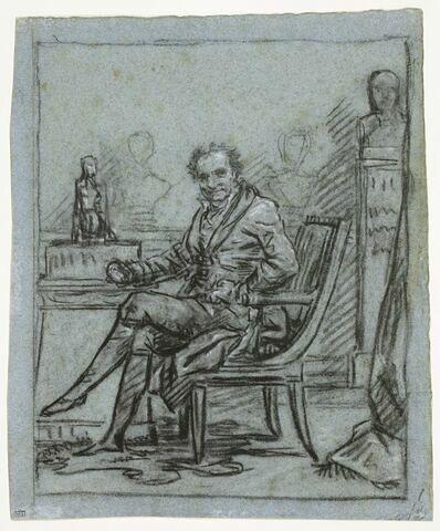 Portrait du baron Dominique Vivant Denon dans son cabinet de travail