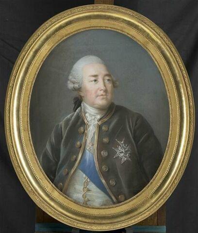 """Portrait du duc Louis-Philippe d'Orléans ( 1725-1785) surnommé le """" gros duc""""."""