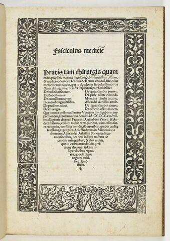 Fasciculus medicinae. Praxis tam chirurgis quam...