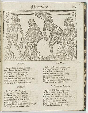 La Mort, l'Abesse / la Mort, la femme de l'Ecuyer
