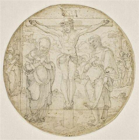 La Crucifixion entre la Vierge et saint Jean