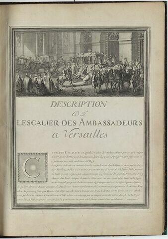 Frontispice à la description de l'Escalier des Ambassadeurs à Versailles