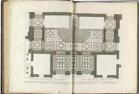 Plan du Grand Escalier des Ambassadeurs à Versailles