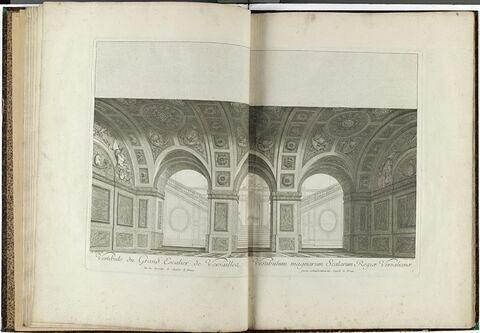 Vestibule du Grand Escalier de Versailles, sur les dessins de Charles le Brun.