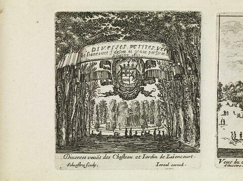 Diverses petites vues de Liancourt dessiné et gravé par Israël Silvestre. 1655.