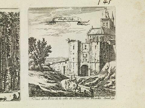 Vue d'une porte de la ville de Clermont en Picardie