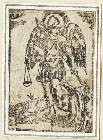 Archange Michel terrassant un ange rebelle