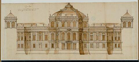 Cinquième projet pour le Louvre. Elévation pour la façade occidentale (?), vers 1664