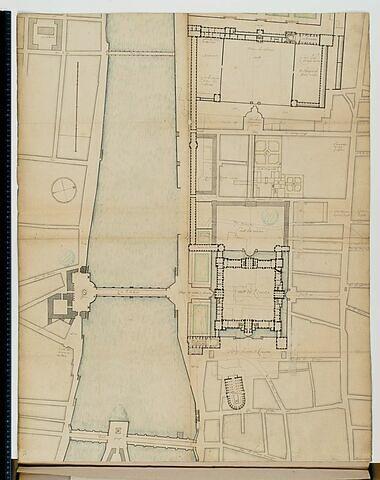Projet pour le Louvre. Plan de l'ensemble Louvre-Tuileries au rez-de-chaussée, vers 1659/60