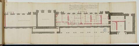 Plan du troisième ordre de la Colonnade et du pavillon à l'angle nord-est au Louvre, 1755